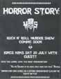 HORROR STORY, gig at Kings Arms pub, 20th July 2002. Click to see a bigger poster.