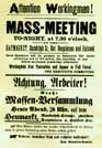 The poster that drew crowds to the Haymarket, 4th May 1886.  Click here for a larger version.