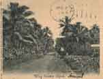 German Samoa postcard view in 1907. Click to see the postcard in actual size.